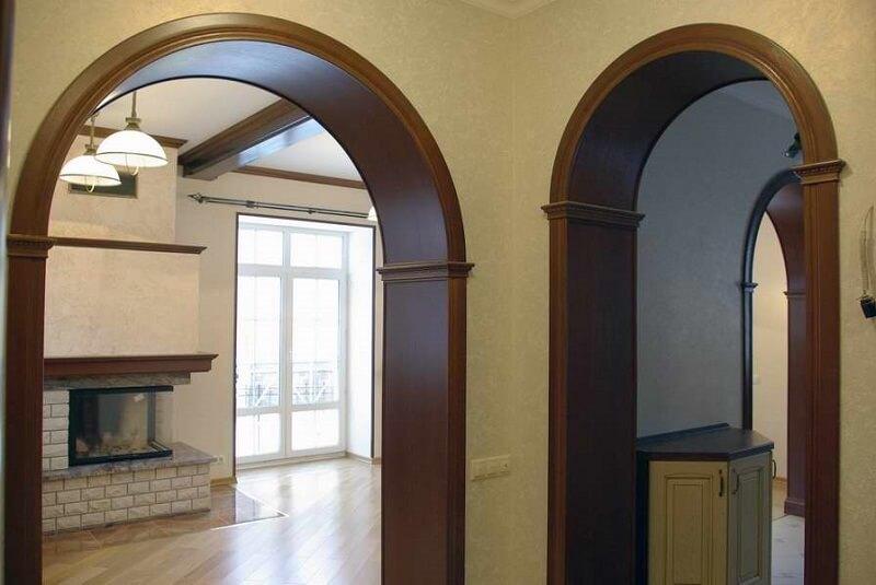 Межкомнатные порталы в виде арок