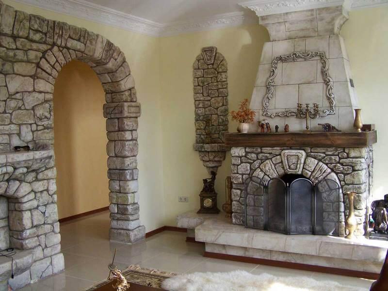 Декоративная арка из камня