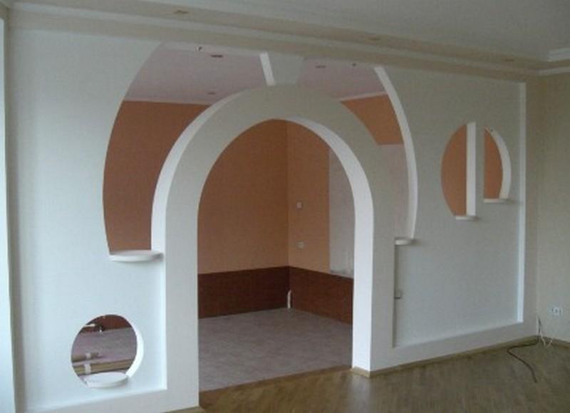 Монтаж арки из гипсокартона