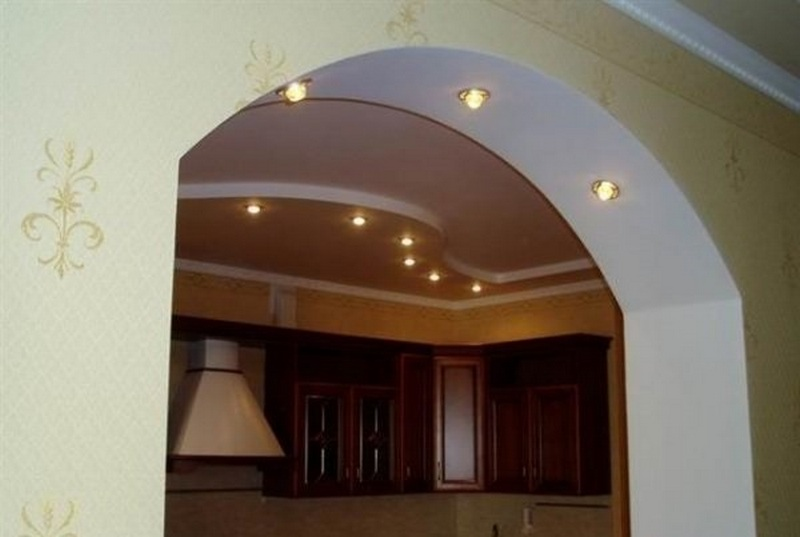 Гипсокартонная арка с подсветкой