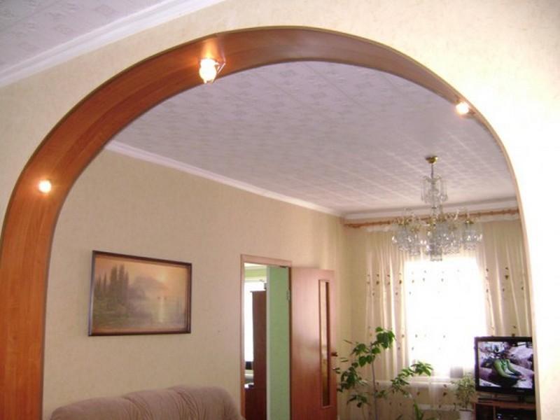 Межкомнатная арка с подсветкой