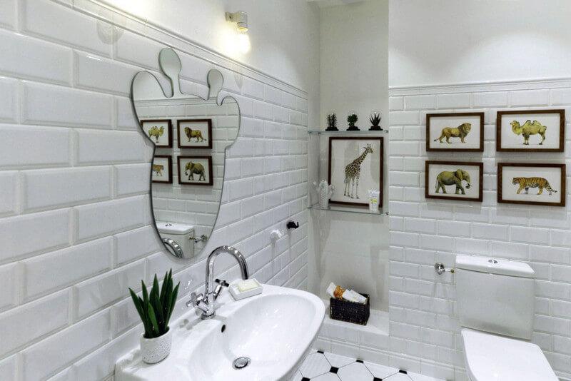 Стена облицованная керамическим кирпичом