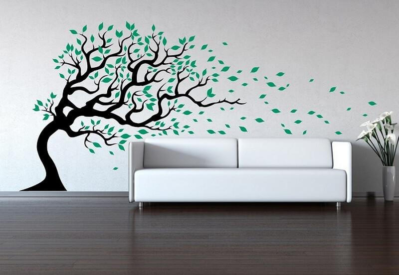 Рисунок на стене в виде дерева