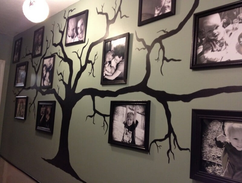 Фамильное дерево на стене
