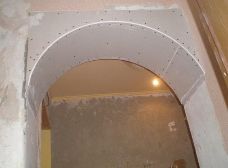 Готовая межкомнатная арка из гипсокартона