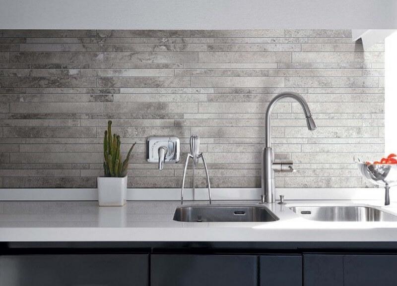 Керамическая настенная плитка на кухне