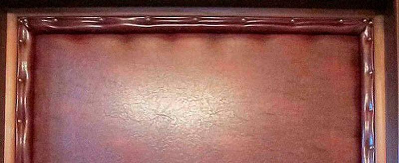 Входная дверь облицованная дермантином