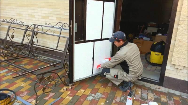 Утепление металлической двери