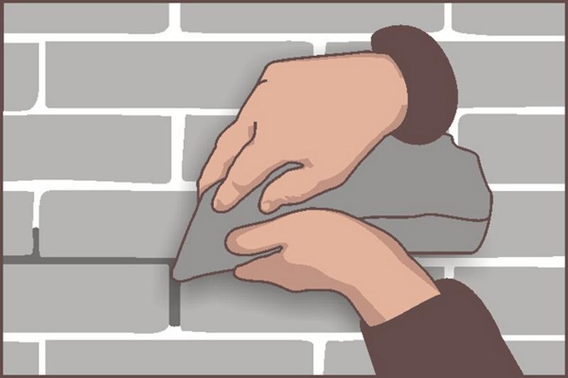 Заполнение швов при укладке декоративного камня