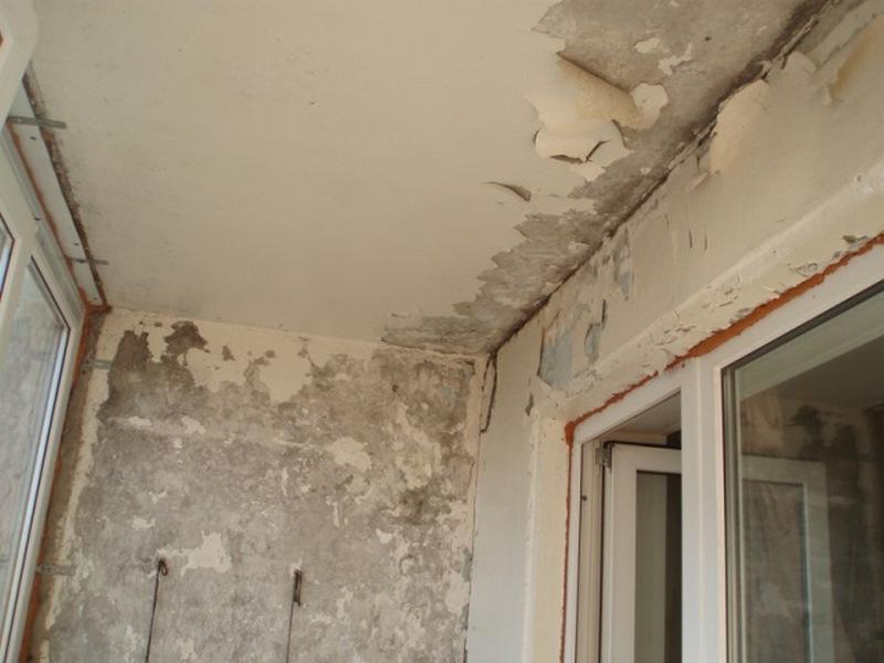 Подготовка поверхности балкона к отделке
