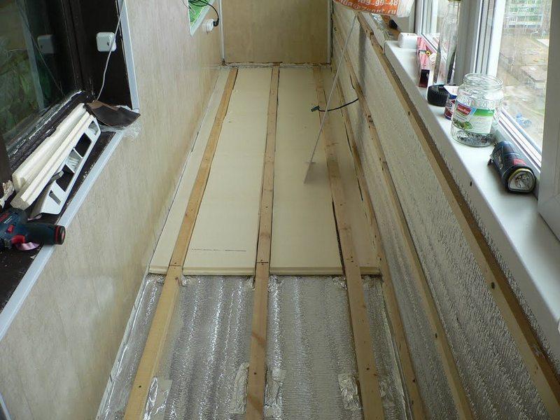 Утепление балкона гидроизоляцией