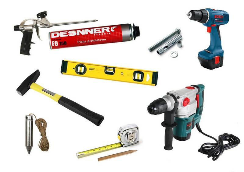 Инструменты для отделки входной двери