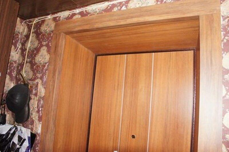 Входная дверь отделанная МДФ панелью