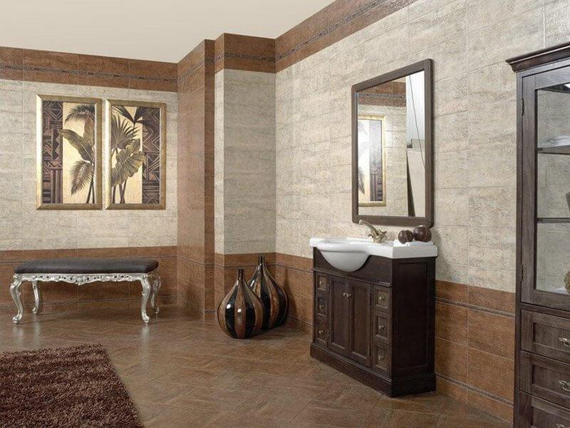 Комната отделанная керамической плиткой