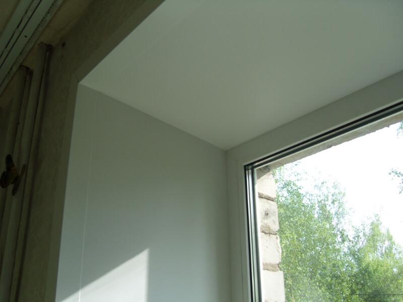 Откосы из гипсокартона на окнах