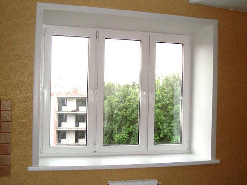 ПВХ откосы на пластиковых окнах
