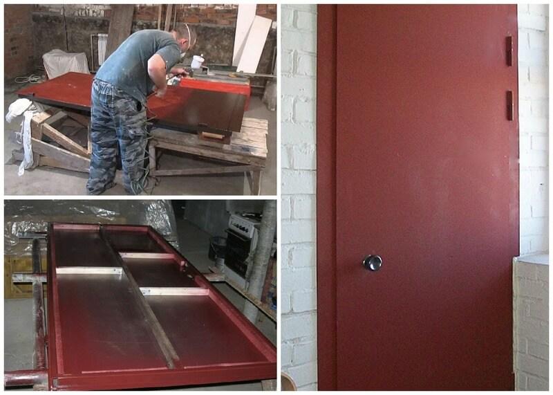 Процедура покраски металлической двери