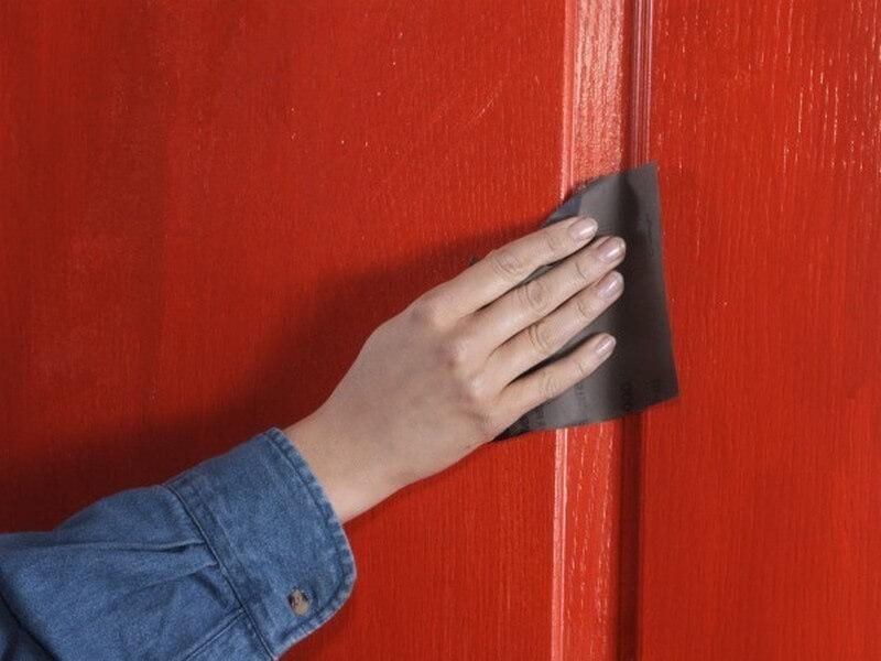 Обезжиривание двери