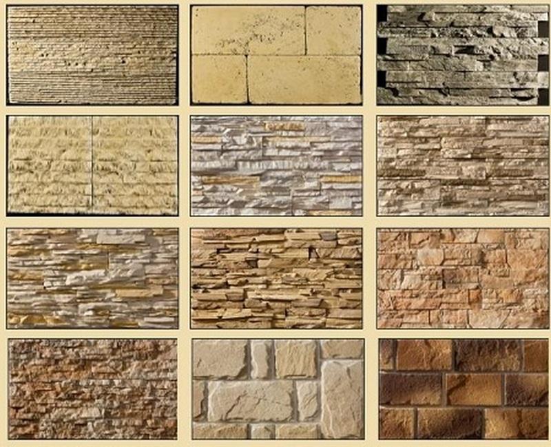 Виды искусственных камней