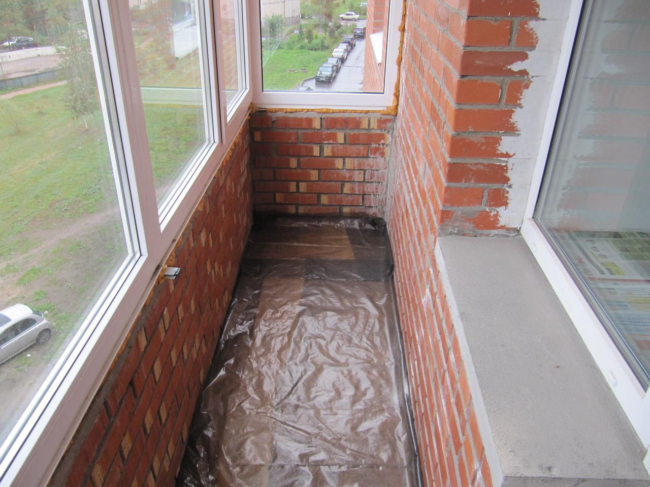 Подготовка балкона к утеплению
