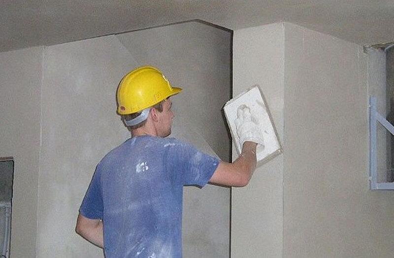 Затирка стен полутерком