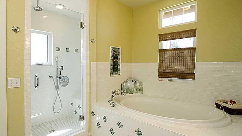 Латексная краска в интерьере ванной