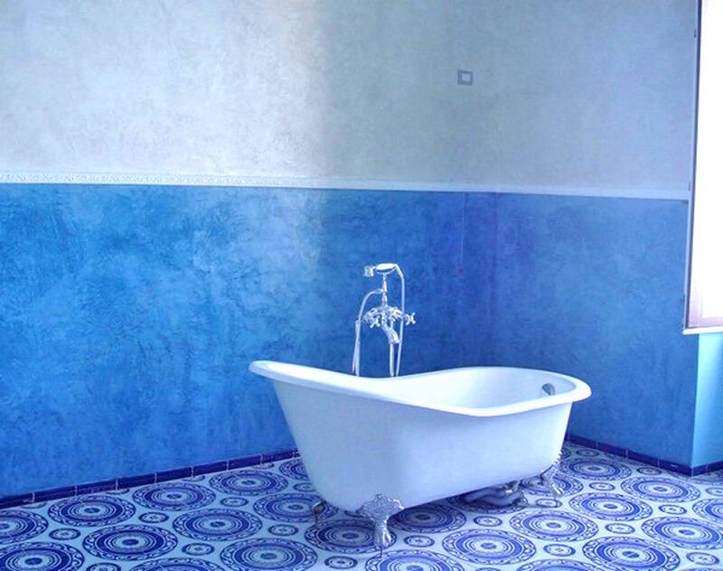 Масляные краски в интерьере ванной