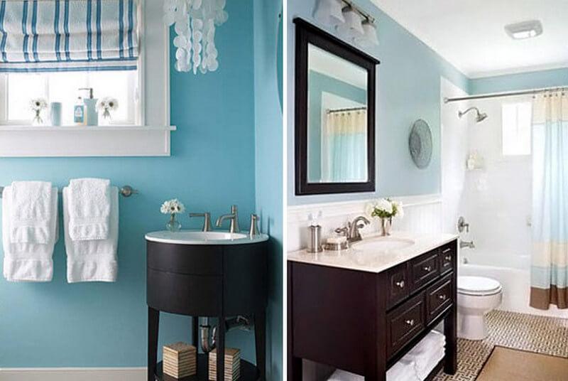 Эмалевые краски в интерьере ванной