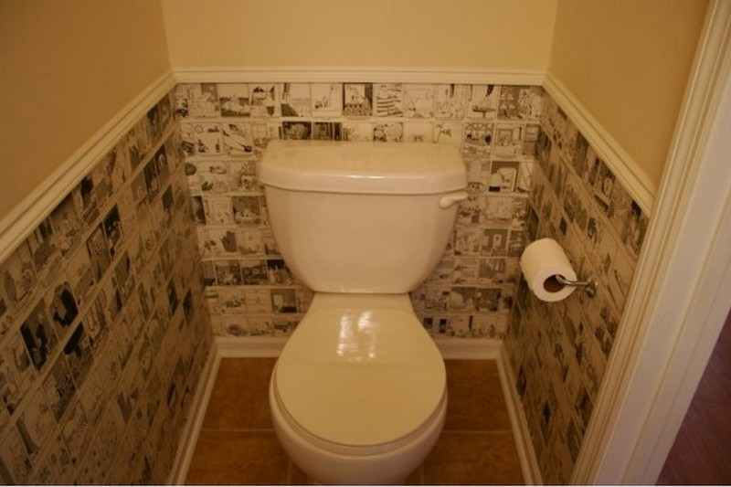 Отделка стен туалета ПВХ панелями