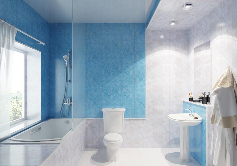 ПВХ панели в интерьере ванной
