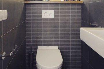 Плитка в интерьере туалета