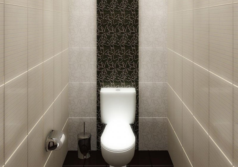 Кафельная плитка в интерьере туалета