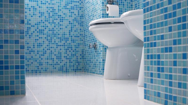 Фигурная плитка в интерьере туалета