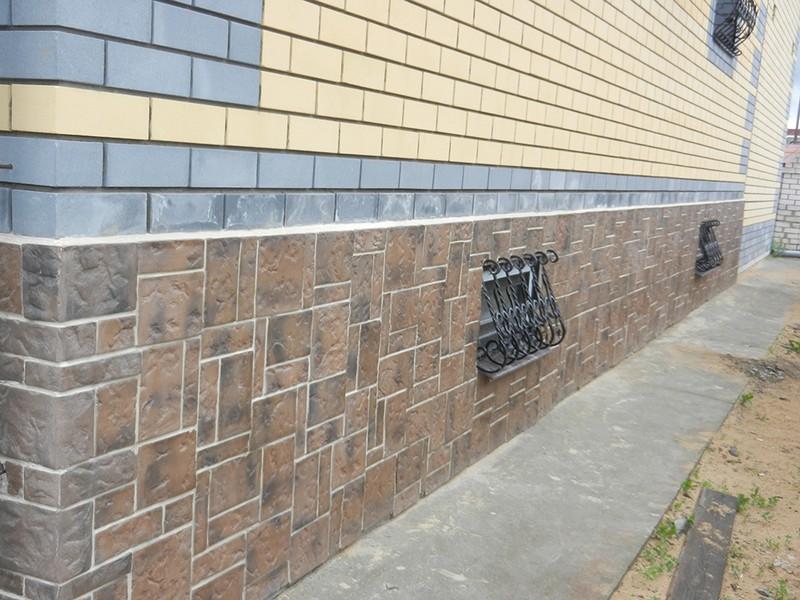 Искусственный декоративный камень на фасаде
