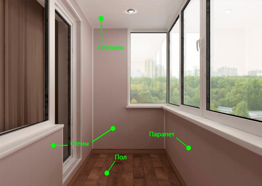 Материалы для отделки балконов и лоджий