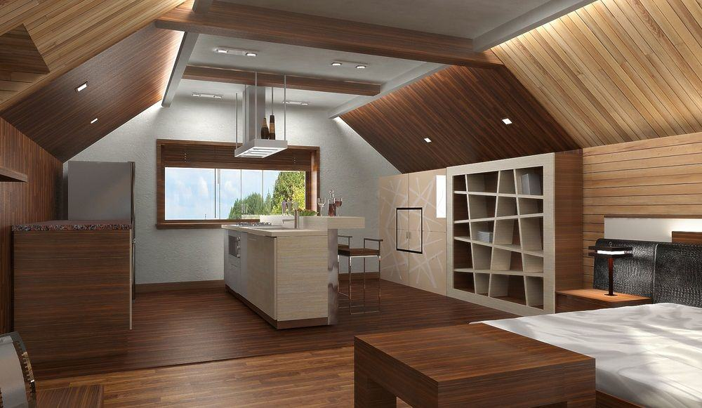 Вагонка в интерьере дачи кухни