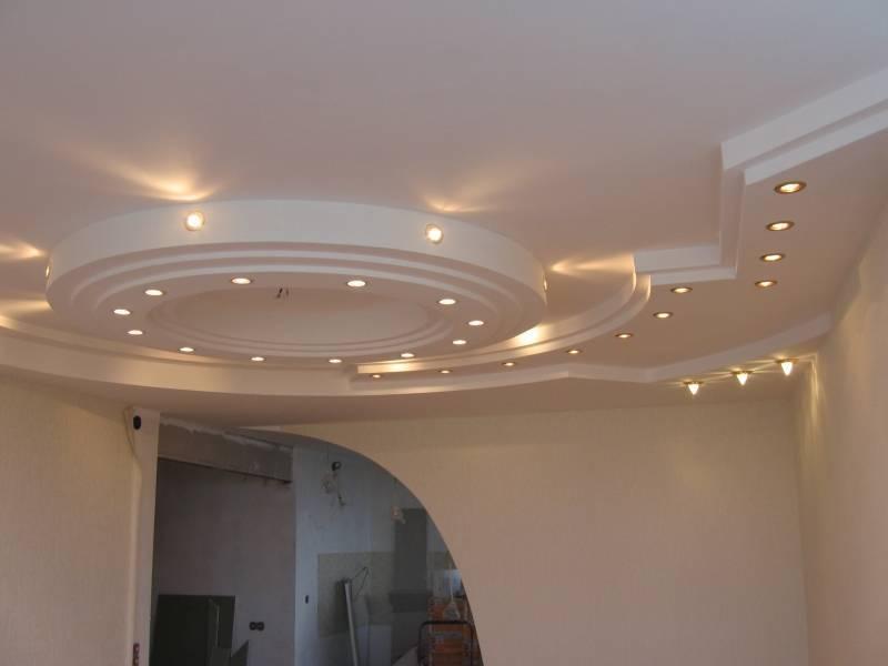 Ступенчатый потолок из гипсокартона