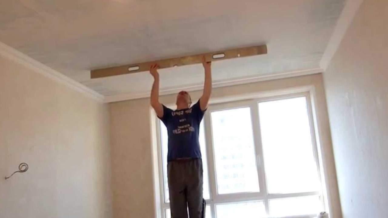 Как шпаклевать гипсокартонный потолок своими руками