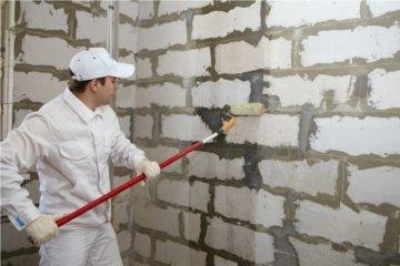 Грунтовка стен перед штукатуркой