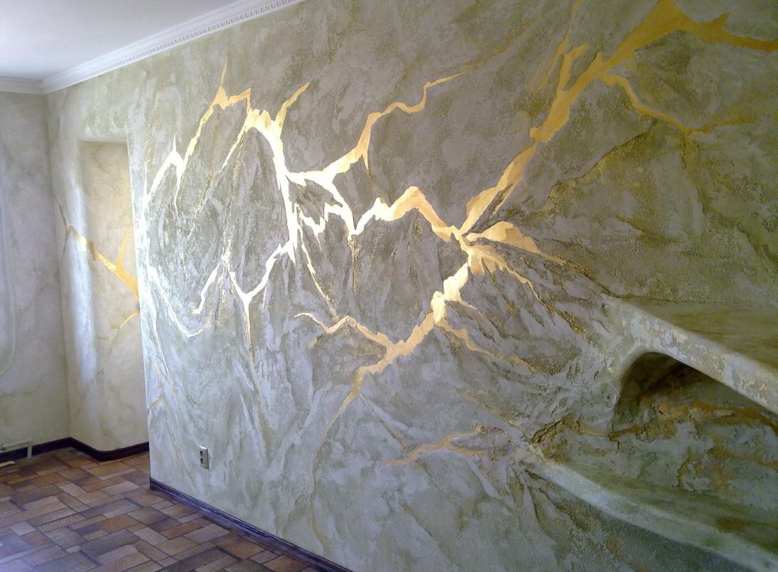 Декоративная покраска стен в интерьере
