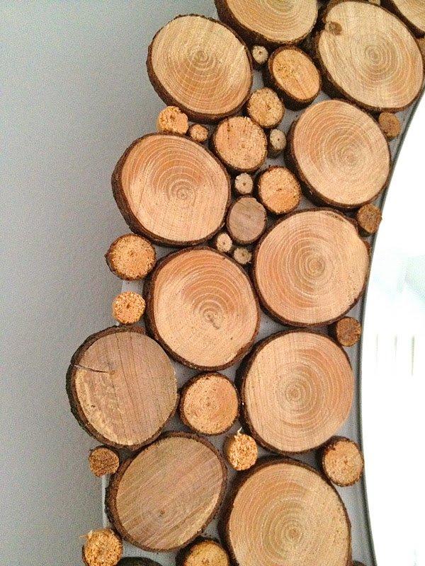 Обрамление из спилов дерева
