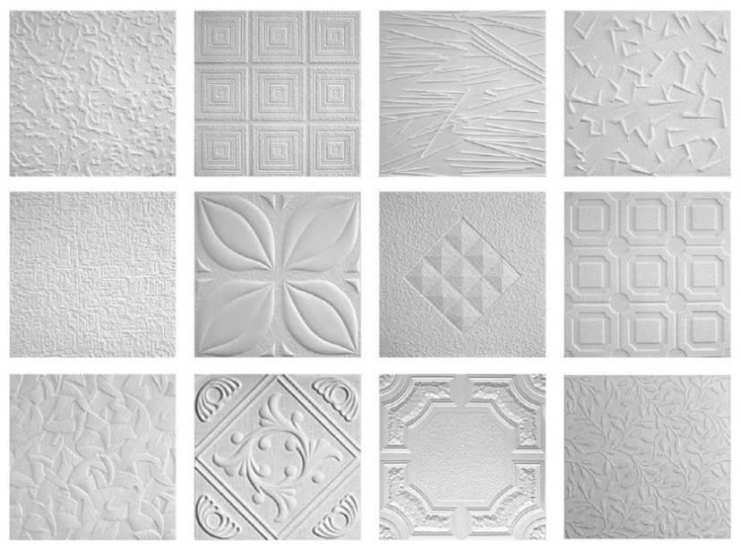 Варианты потолочной плитки из пенопласта