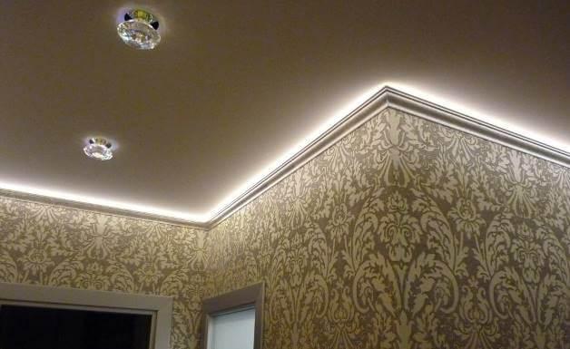Светодиодные элементы на потолке